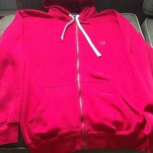 Chaps hoodie men's great condition red color